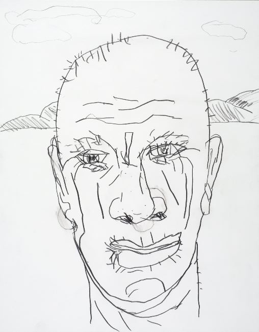 Jack Pierson Self Portrait 2006, 14x11pcs graphite on paper courtesy Projex-MTL