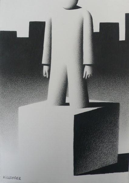 Le béton, 2009 by Killoffer mine de plomb sur papier 30 x 21,7 cm Courtesy Galerie Anne Barrault