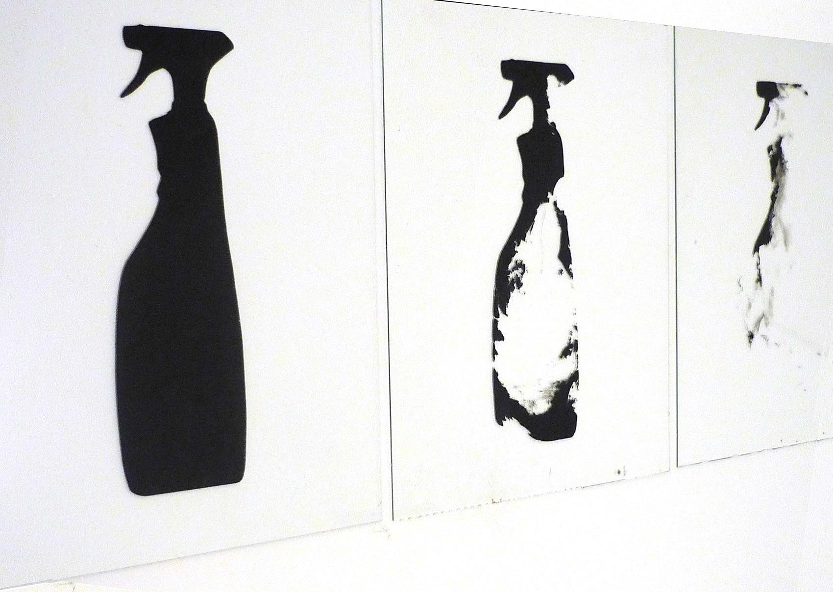 lave vitre, sérigraphie triptyque taille variable, 2001