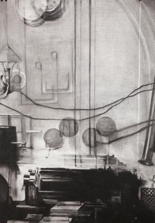 Damien Cadio Charcoal on paper 100 x 70 cm Courtesy Manzoni Shäeper