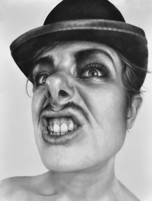 "Melissa Cooke ""The Weasel"", 2009, graphite on paper, 50"" x 38"" courtesy Koplin de Rio Gallery"