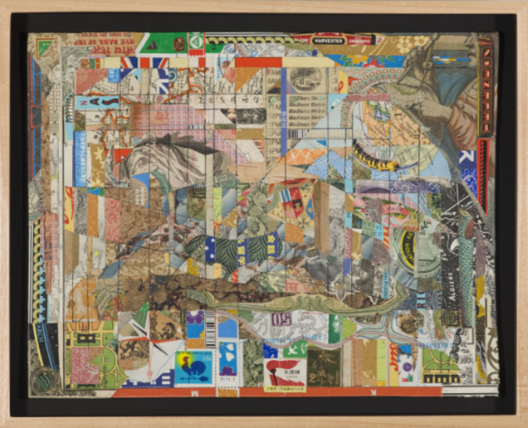 """Christopher Wilde Imagining a Time and Distance - 2009 Collage, framed 8 x 10 1/4"""" Courtesy Rosamund Felsen Gallery"""