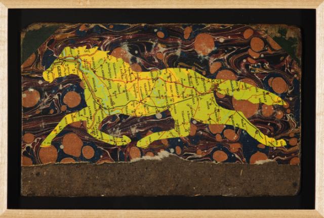 "Christopher Wilde Equinant - 2009 Collage, framed 5 1/4 x 8 1/2"" Courtesy Rosamund Felsen Gallery"