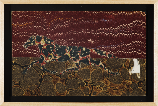 "Christopher Wilde Equinea Antigua I - 2010 Collage, framed 5 x 8"" Courtesy Rosamund Felsen Gallery"