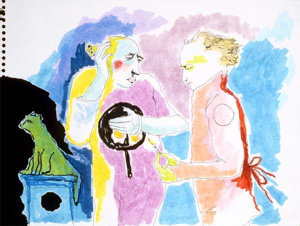 Mindy Alper Untitled (Fried eggs) 2007 Ink & marker on paper 9 x 12'' Courtesy Rosamund Felsen Gallery