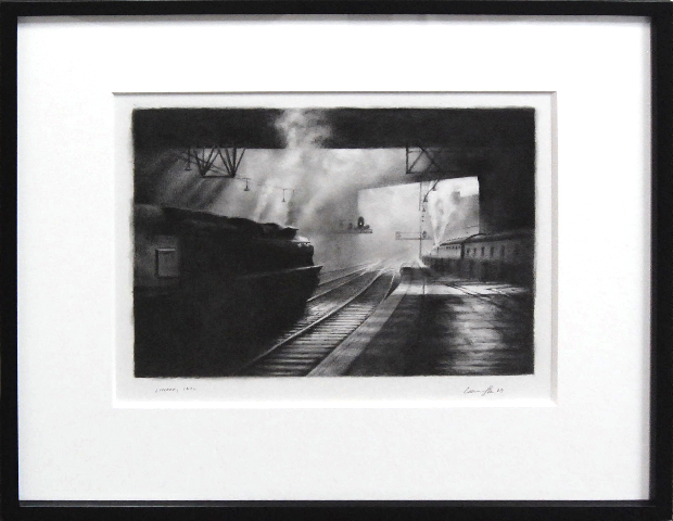"Larry Gipe London 1940, 2009 graphite on paper 14 x 17"" / 17 1/2 x 19"" framed courtesy Lora Schlesinger Gallery"