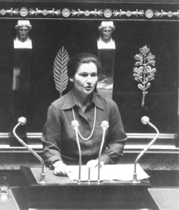 Simone Veil in 1975 defending the abortion law