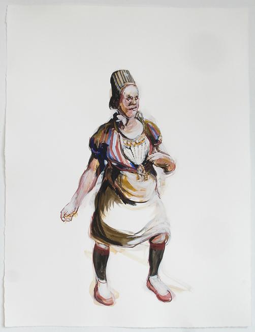 Bénédicte Peyrat ohne Titel / Untitled (G05), 2006 Gouache auf Papier / Gouache on paper 65 x 50 cm Courtesy Thomas Rehbein Gallery