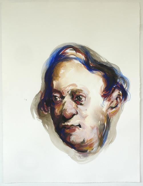 Bénédicte Peyrat ohne Titel / Untitled (G11), 2006 Gouache auf Papier / Gouache on paper 65 x 50 cm Courtesy Thomas Rehbein Gallery