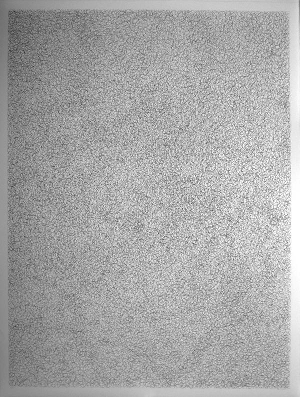 Sans titre, 2008. by Didier Mencoboni Encre sur papier - 132 x 100 cm © Courtesy Galerie Eric Dupont, Paris