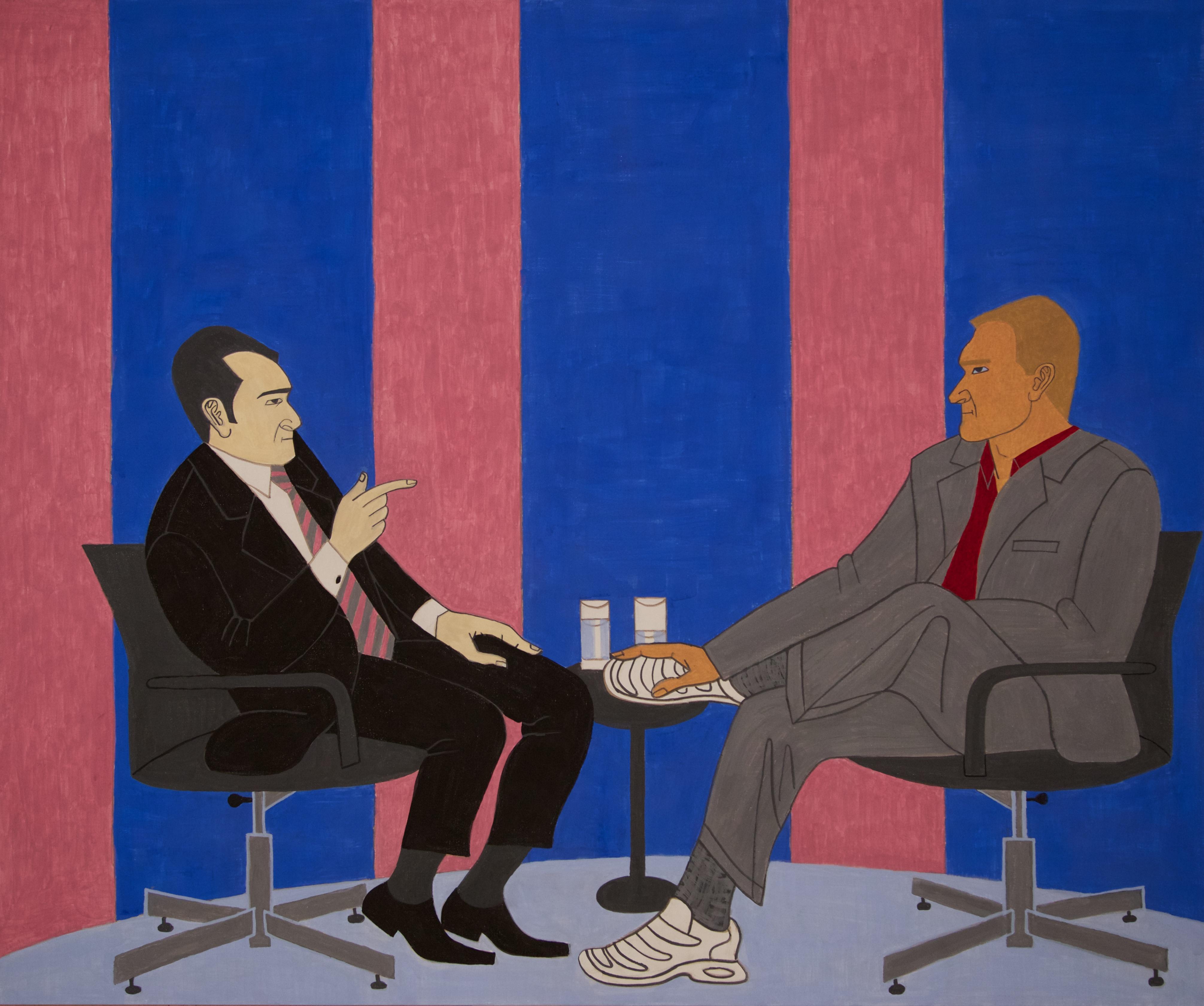 Talk Show, 2015, casein on aluminum, 30 x 36 inches - courtesy the artist