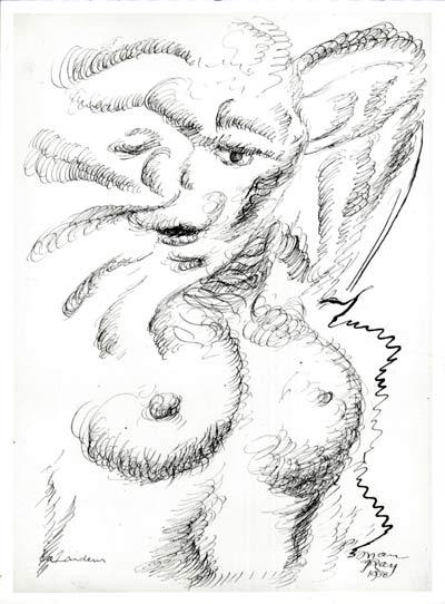 Man Ray Encre sur papier - 1938 30x 40 cm courtesy Galerie Françoise Paviot clik here for more infos & Galerie de Bayser