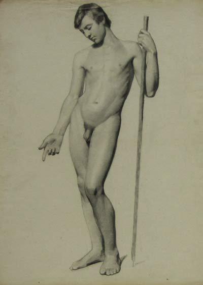Charles Nègre Mine de plomb sur papier - 1843 80 x 50 cm courtesy Galerie Françoise Paviot clik here for more infos & Galerie de Bayser