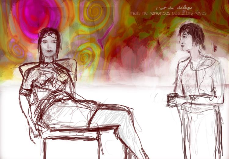 Le Déluge, dessin numérique Courtesy the artist