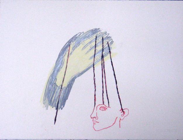 Marine Joatton Sans titre, 2009.  Technique mixte sur papier - 57 x 76 cm © Courtesy Galerie Eric Dupont
