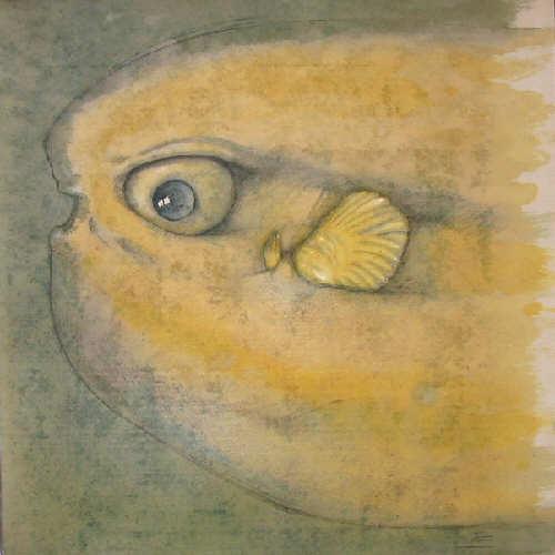 Fantôme 03 : pierre noire et craie sur Sempatap, 100cm x 100cm courtesy the artist