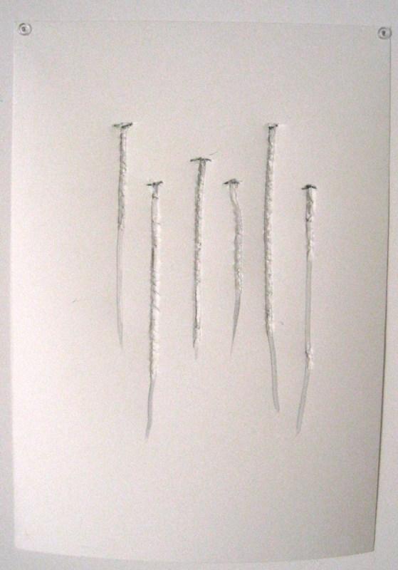 Yazid Oulab Percussion, 2008. Crayon de maçon sur papier - 40 x 30 cm © Courtesy Galerie Eric Dupont, Paris