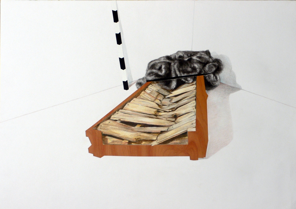 An  Guillaume / Leylagoor Figure impossible, 2009 Montage Photoshop imprimé sur PVC - 80x80 cm courtesy Galerie Odile Ouizeman