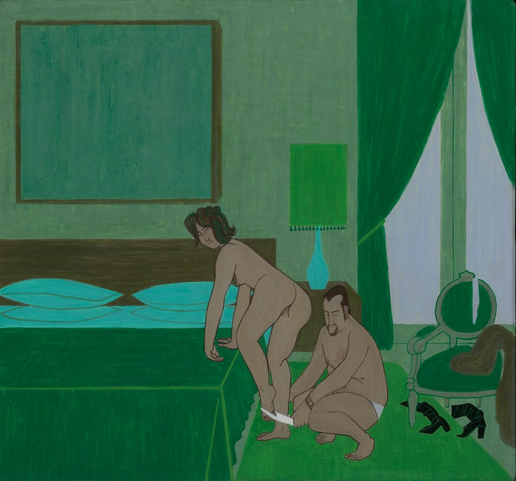 Boutique Hotel, 2010, casein on wood panel, 10 1/4 x 11 inches - courtesy the artist