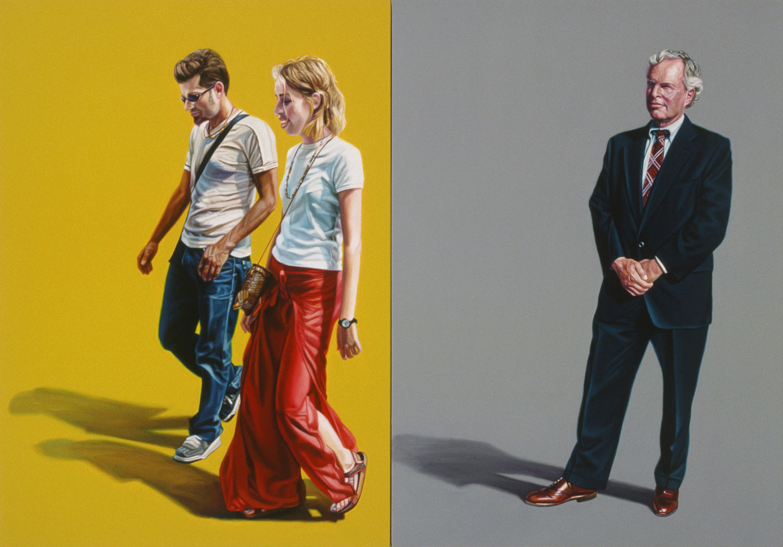 """Avant Garde / Avant Guardian 44"""" x 63"""", oil on canvas,  2001 - courtesy the artist"""