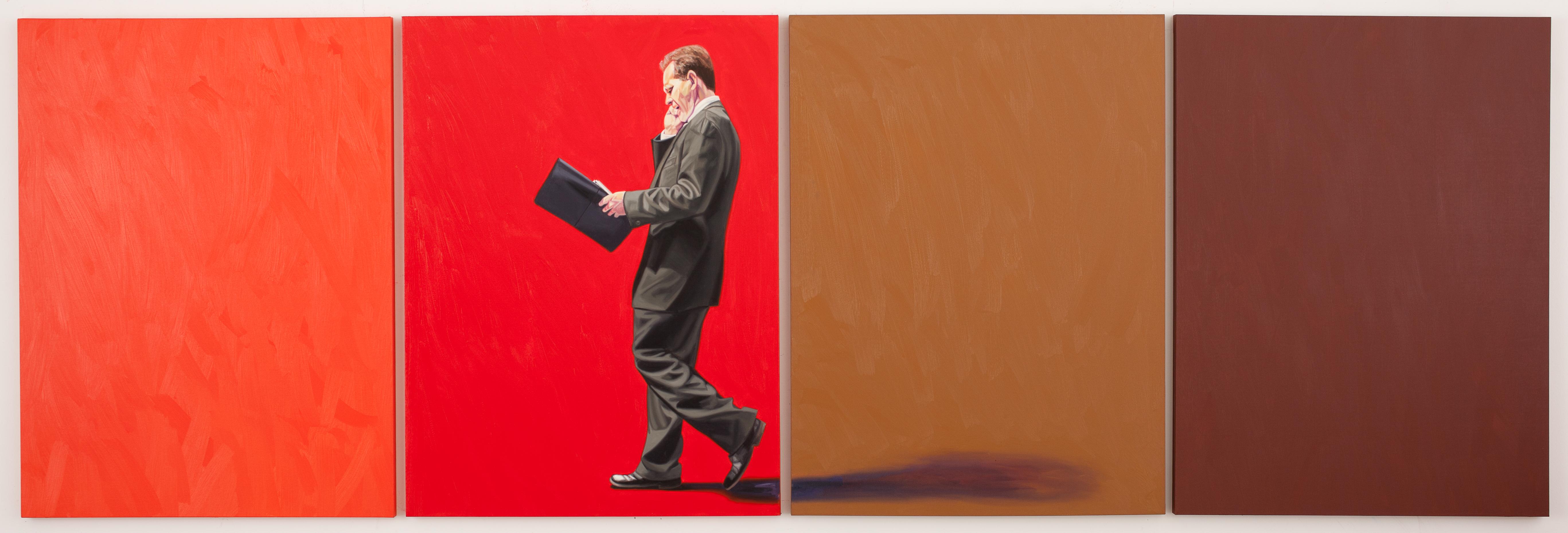 """No Escape 48"""" x 197"""", oil on canvas, 2010 - courtesy the artist"""