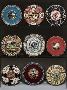 Jean Lowe, Auction Lots (Fine Americana: Plates), 2013 Inkjet print on polymetal 48 x 36 -courtesy Rosamund Felsen gallery