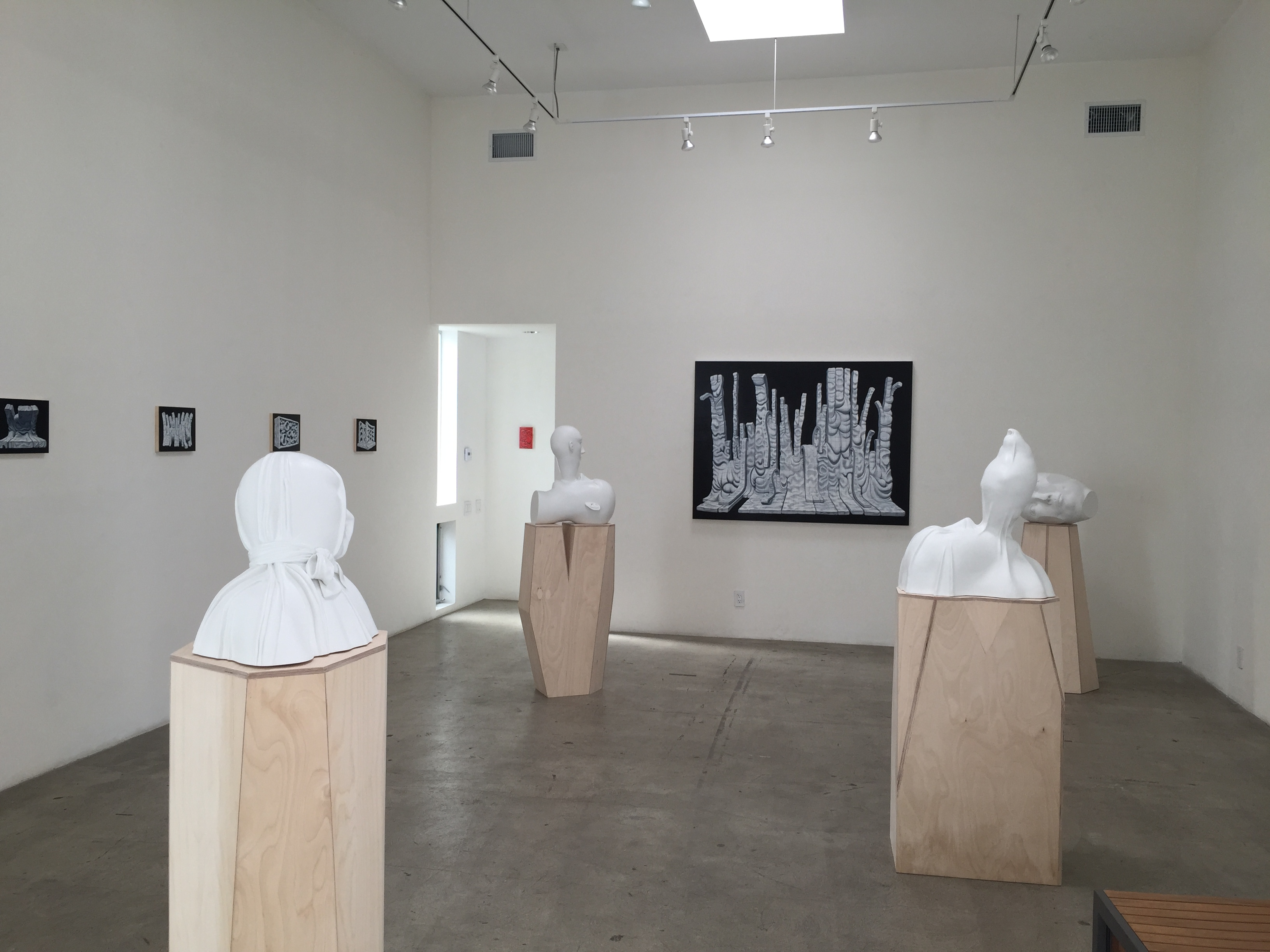 "Exhibition view at JAUS in 2015 - ""Head Space"" New Works by Tanya Batura and Brian Cooper"