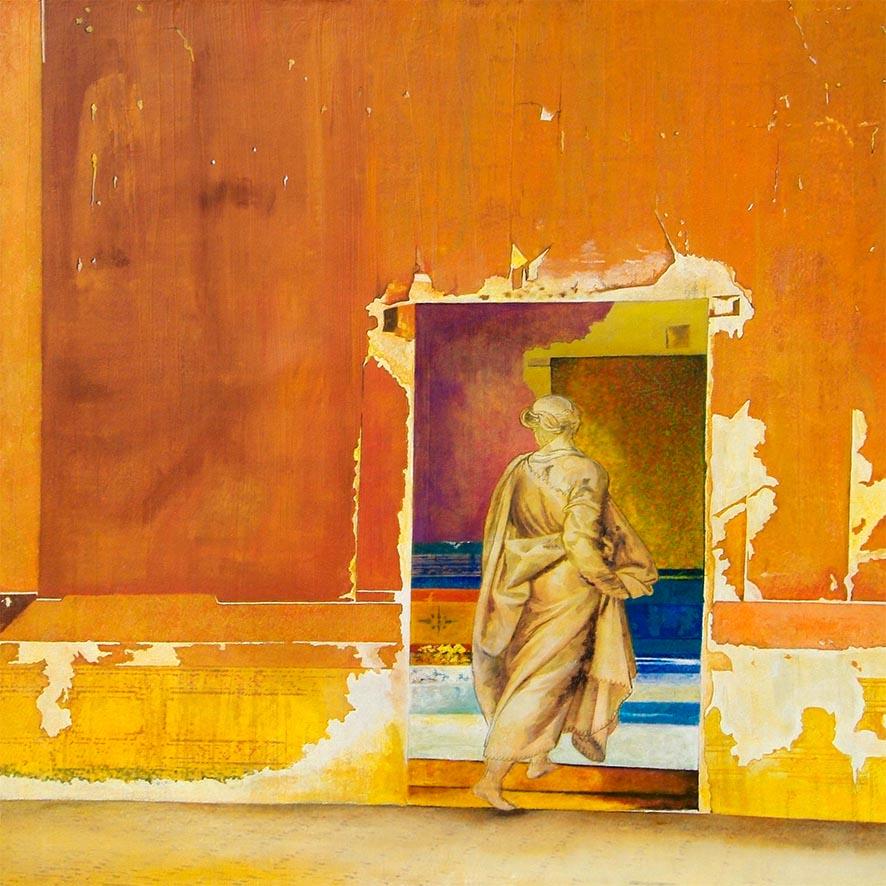 """Traversée"" Oil on canvas - 100 x 100 cm courtesy the artist"