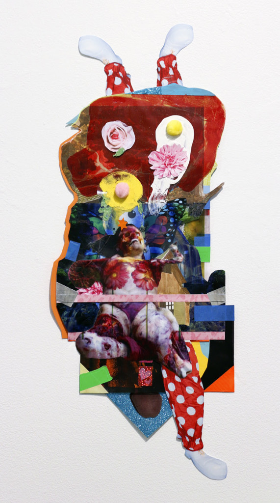 Matthew Carter, Exquisite Corpse I, 2015, mix media collage, 26 x 11 in - courtesy LDJ