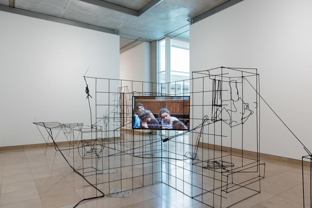 Neïl Beloufa. (c) D. Huguenin. Marcel Duchamp Prize