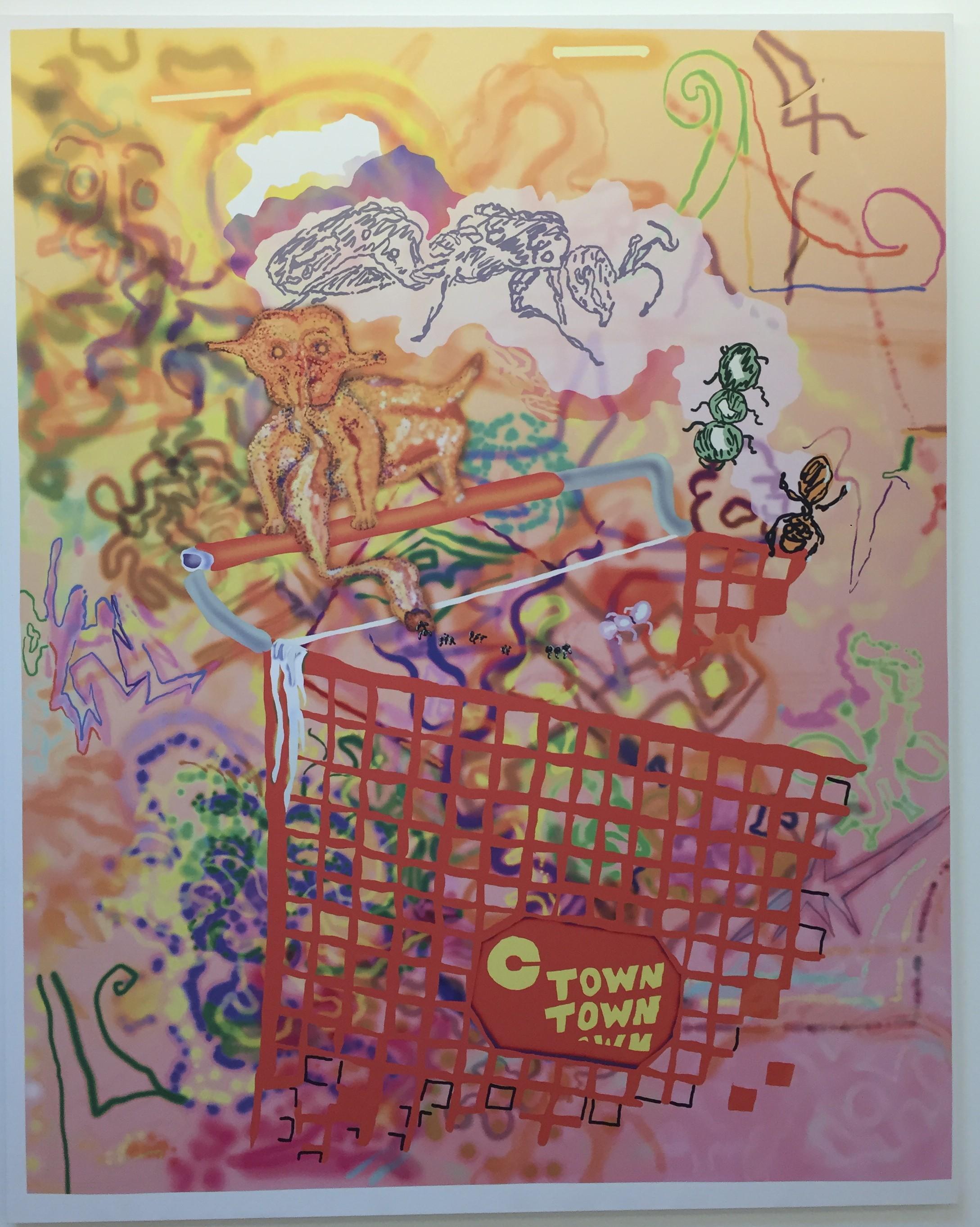 Michael Williams Adirondack Burdock, 2015 Inkjet on canvas 98 x 78 inches