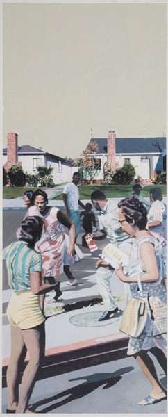 Milk Run, 2015, Acrylic on paper , 8.25 x 20.5in - courtesy Samuel Freeman
