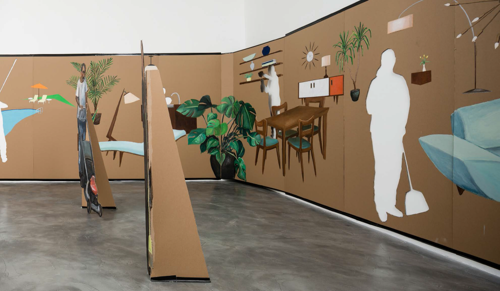 Ramiro Gomez: Cut-outs, installation at Charlie James Gallery