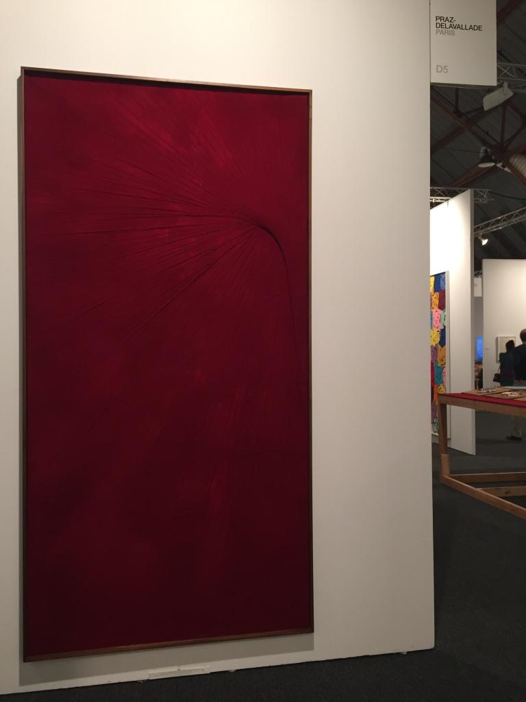 Matthew Chambers - Red Series - Flocked paint - 244 x 122 cm courtesy Praz-Delavallade