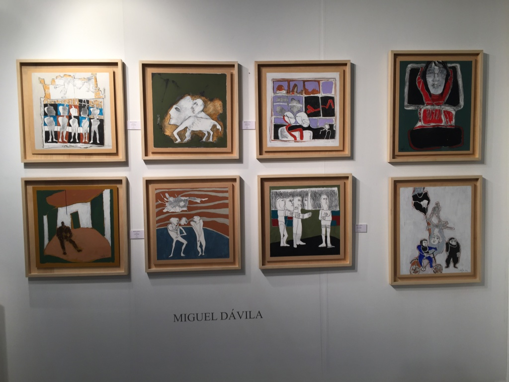 Painter Miguel Davila at Sasha.D, Argentina