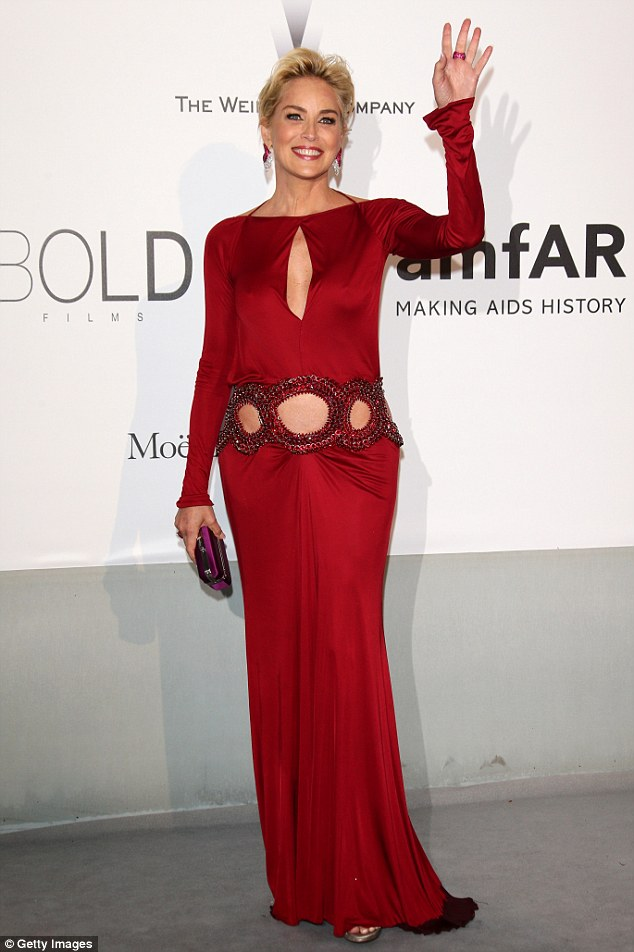Ms Sharon Stone at the AMFAR gala, 2015