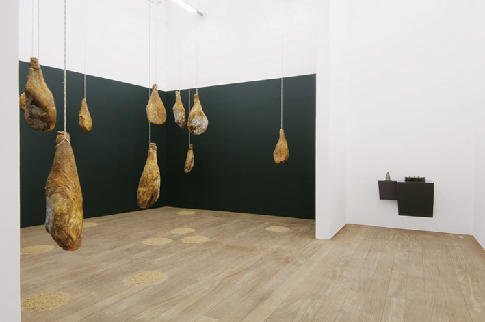 haim steinback Untitled (thirteen pigs) - Exhibition view, Galerie Laurent Godin, Paris, 2007