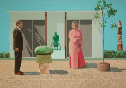 American Collectors (Fred and Marcia Weisman), by David Hockney 1968
