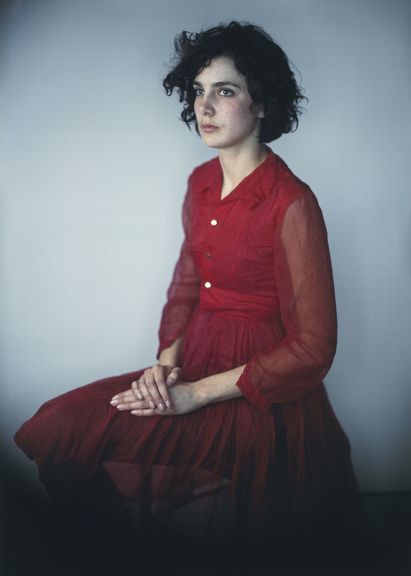 Agnes in Red Dress, 2008, Richard Learoyd, silver-dye bleach print. © Richard Learoyd, courtesy Fraenkel Gallery, San Francisco