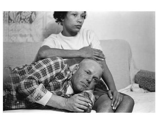 Richard and Mildred Loving on their couch, King and Queen County, Virginia, 1965, ©Grey Villet. Image courtesy Monroe Gallery of Photography