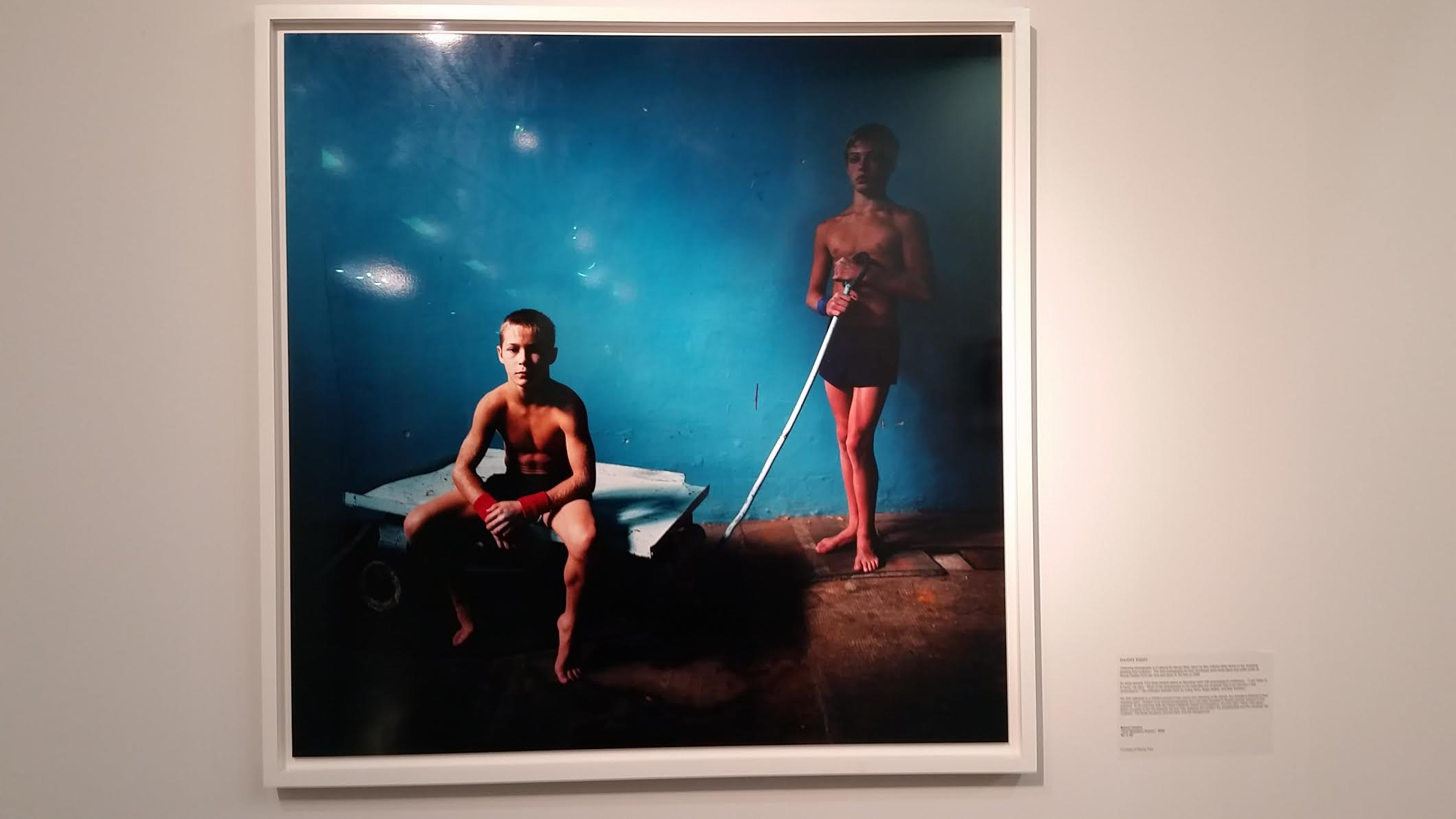 "From the Point of View from Collectors, Michal Chelbin ""Two wrestlers Russia"" 2006, courtesy Danny First's collection"